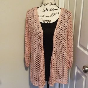 Onyx Ladies blouse with Cardigan Large